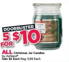 Michaels Black Friday: (5) All Ashland Christmas Jar Candles for $10.00