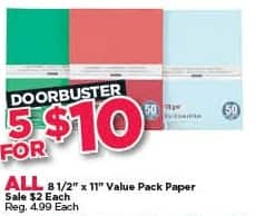 """Michaels Black Friday: (5) All 8 1/2"""" x 11"""" Value Pack Paper for $10.00"""