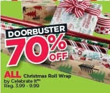 Michaels Black Friday: All Celebrate It Christmas Roll Wrap - 70% Off