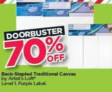 Michaels Black Friday: Artist's Loft Back-Stapled Traditional Canvas - 70% Off