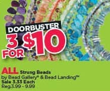 Michaels Black Friday: (3) All Bead Gallery & Bead Landing Strung Beads for $10.00