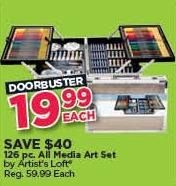 Michaels Black Friday: Artist's Loft 126-pc. All Media Art Set for $19.99