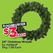 "Michaels Black Friday: Ashland 24"" Christmas Wreath for $3.00"
