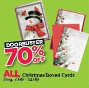 Michaels Black Friday: All Christmas Boxed Cards - 70% Off