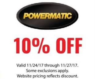 ACME Tools Black Friday: Powermatic Tools - 10% Off