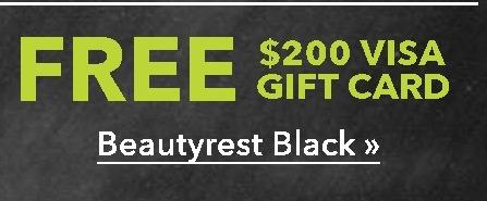 US Mattress Black Friday: Select Beautyrest Black Mattresses + $200 Visa Gift Card - Free w/Purchase