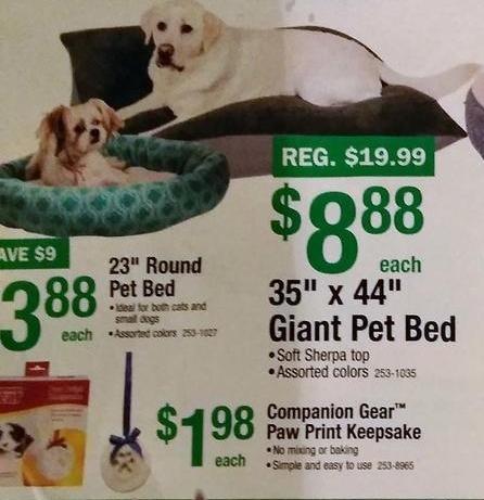 "Menards Black Friday: 35"" x 44"" Giant Pet Bed for $8.88"