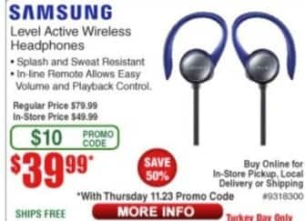 Frys Black Friday: Samsung Level Active Wireless Headphones for $39.99