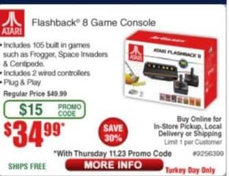 Frys Black Friday: Atari Flashback 8 Game Console for $34.99