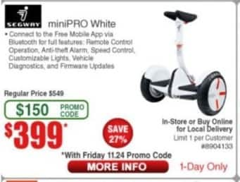 Frys Black Friday: Segway MiniPro for $399.00