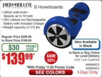 Frys Black Friday: High Roller Model S Hoverboard for $139.99