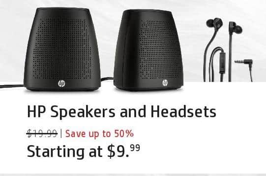 HP Black Friday: HP Speakers and Headsets for $9.99