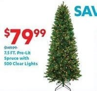 At Home Black Friday: 7.5-ft Pre-Lit Spruce with 500 Clear Lights for $79.99