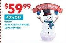 At Home Black Friday: 52-in. Color-Changing LED Snowman for $59.99