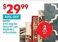 At Home Black Friday: 2-pc. Rug Set (5 Styles) for $29.99