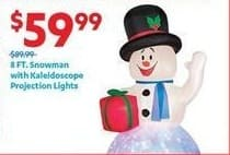 At Home Black Friday: 8-ft. Snowman with Kaleidoscope Projection Lights for $59.99