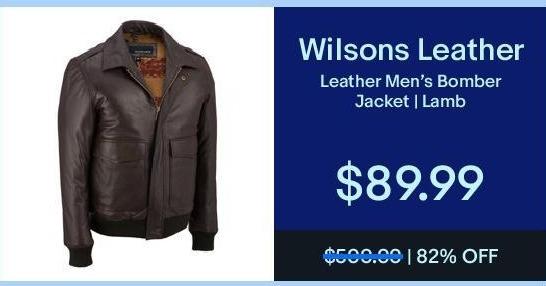 eBay Black Friday: Wilsons Leather Men's Bomber Jacket for $89.99