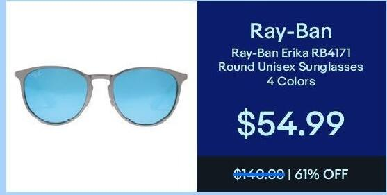 3c59e35182 ... new zealand ebay black friday ray ban erika rb4171 round unisex  sunglasses for 54.99 3b6a7 190d6
