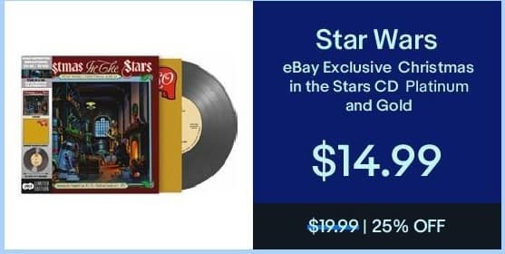eBay Black Friday: Star Wars eBay Exclusive Christmas in the Stars CD for $14.99