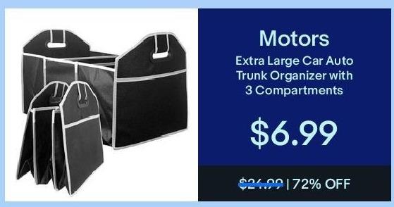 eBay Black Friday: Motors Extra Large Car Auto Trunk Organizer for $6.99