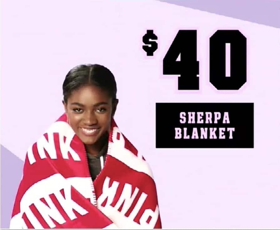 Victoria's Secret Black Friday: Sherpa Blanket for $40.00