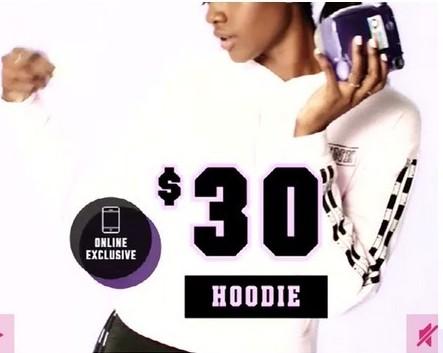 Victoria's Secret Black Friday: Victoria's Secret Hoodie for $30.00