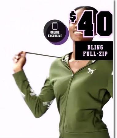 Victoria's Secret Black Friday: Bling Full-Zip Hoodie for $40.00