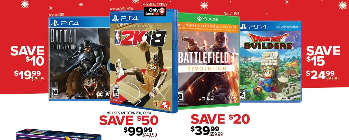 GameStop Black Friday: NBA 2K18 (PS4/Xbox One/Switch) for $99.99