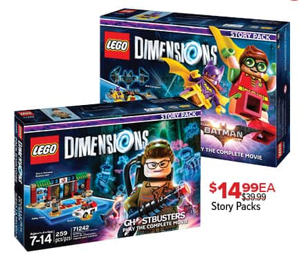GameStop Black Friday: Lego Dimensions Story Packs, Each for $14.99