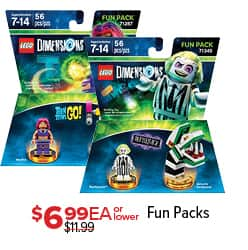 GameStop Black Friday: Lego Dimensions Fun Packs, Each for $6.99