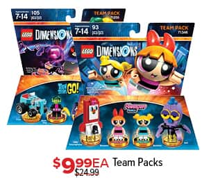 GameStop Black Friday: Lego Dimensions Team Packs, Each for $9.99