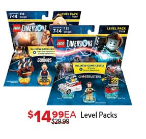 GameStop Black Friday: Lego Dimensions Level Packs, Each for $14.99