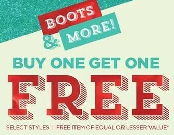 Rack Room Shoes Black Friday: Select Styles of Boots and More - B1G1 Free
