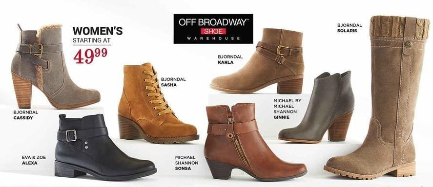 off broadway shoes Black Friday: Select Women's Boots: Bjorndal, Michael by Michael Shannon and More - From $49.99