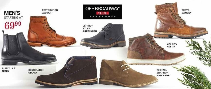 off broadway shoes Black Friday: Select Men's Shoes - From $69.99