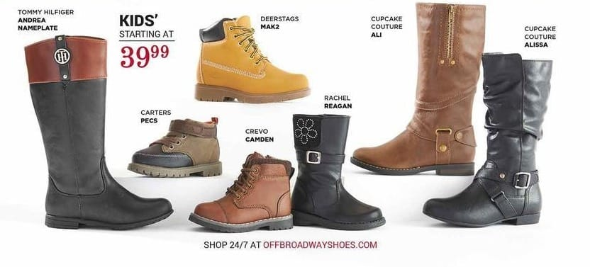 off broadway shoes Black Friday: Select Kids' Shoes: Tommy Hilfiger, Carters and More - From $39.99