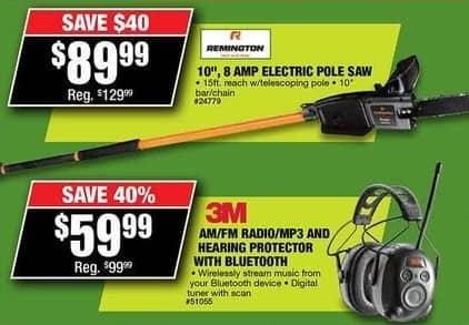 Northern Tool and Equipment Black Friday: AM/FM Radio/MP3 and Hearing Protector with Bluetooth for $59.99