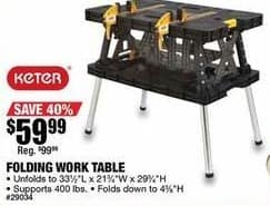 Northern Tool and Equipment Black Friday: Folding Work Table for $59.99