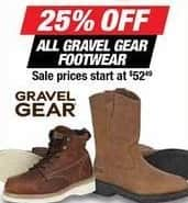 Northern Tool and Equipment Black Friday: All Gravel Gear Footwear - 25% Off