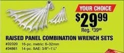 Northern Tool and Equipment Black Friday: Raised Panel Combination Wrench Sets for $29.99