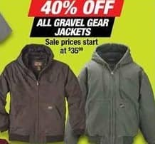 Northern Tool and Equipment Black Friday: All Gravel Gear Jackets - 40% Off