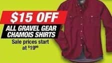 Northern Tool and Equipment Black Friday: All Gravel Gear Chamois Shirts - $15 Off