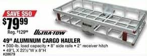 """Northern Tool and Equipment Black Friday: Ultra-Tow 49"""" Aluminum Cargo Hauler for $79.99"""