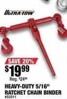 """Northern Tool and Equipment Black Friday: Ultra-Tow Heavy-Duty 5/16"""" Ratchet Chain Binder for $19.99"""