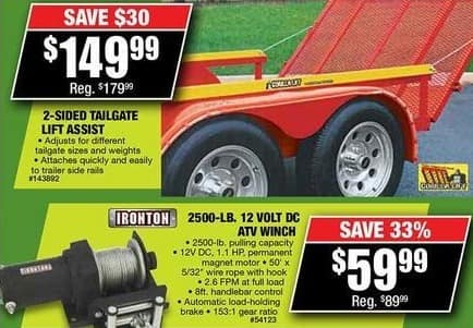 Northern Tool and Equipment Black Friday: Ironton 2500-lb. 12 Volt DC ATV Winch for $59.99