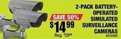 Northern Tool and Equipment Black Friday: 2-pk. Battery Operated Simulated Surveillance Cameras for $14.99