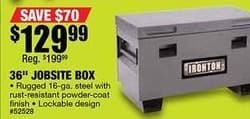 """Northern Tool and Equipment Black Friday: 36"""" Jobsite Box for $129.99"""