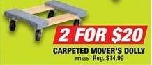 Northern Tool and Equipment Black Friday: (2) Carpeted Mover's Dolly for $20.00