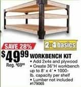 Northern Tool and Equipment Black Friday: Workbench Kit for $49.99