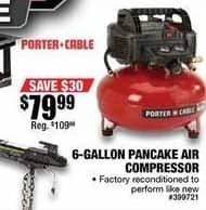 Northern Tool and Equipment Black Friday: Porter-Cable 6-Gallon Pancake Air Compressor for $79.99